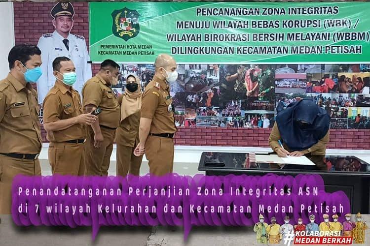 Penandatanganan Perjanjian Zona Integritas ASN Kecamatan Medan Petisah