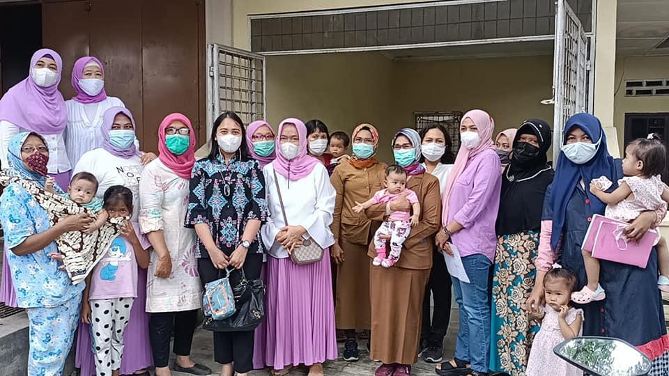 Kunjungan Ibu Ketua TP PKK Kecamatan Medan Petisah Ke Posyandu Bunga Tanjung