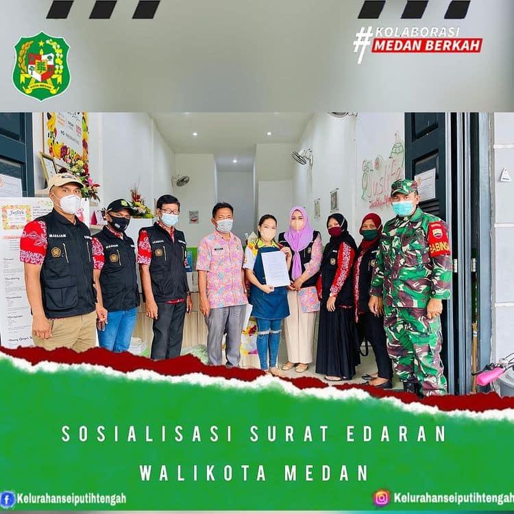 Sosialisasi Surat Edaran Walikota Medan Tentang Pembatasan Kegiatan Masyarakat Dalam Rangka Pengendalian Penyebaran Corona Virus Disease 2019 (Covid-19) di Kota Medan